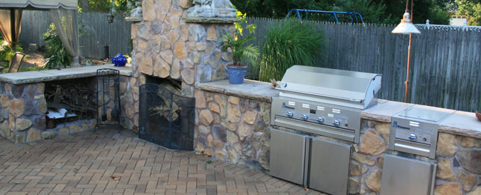 What better way to warm you up than an outdoor fireplace built directly  onto your backyard patio? - How Much Will It Cost To Install An Outdoor Fireplace On My Patio