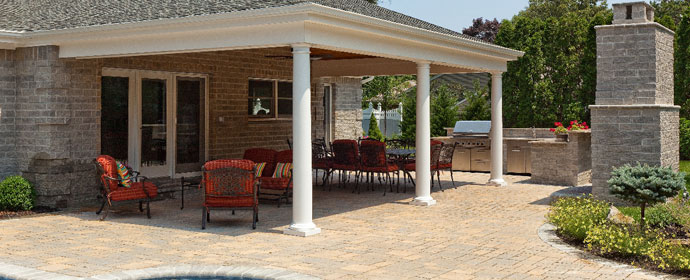 the masonry contractors at long island landscape designs have years of experience coming up with unique backyard patio ideas for